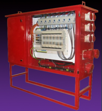 Portable Power Distribution Units on high voltage oil circuit breakers