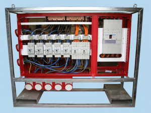 800 amp MDU with crash frame and forklift pockets
